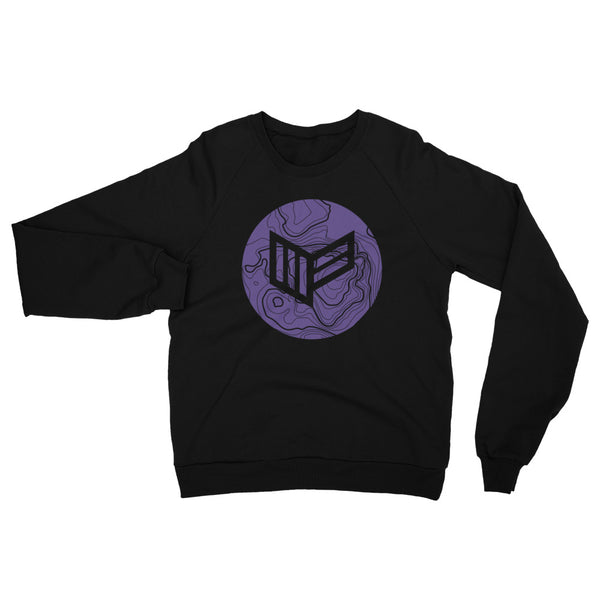 Topo Black Fleece Raglan Womens Sweatshirt Video Gaming Streetwear & Esport Clothing