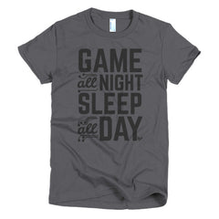 Game All Night, Sleep All Day - Women's T-Shirt Mainframe USA