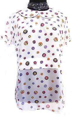 'Ice Cream Bubbles' Silk Blouse