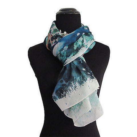'Waterlily' Cashmere Scarf