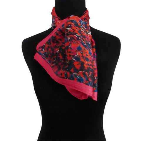 'Bougainvillea' 100% Silk Satin Scarf