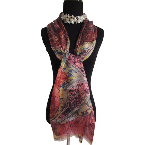'Butterfly' Silk Voile Scarf