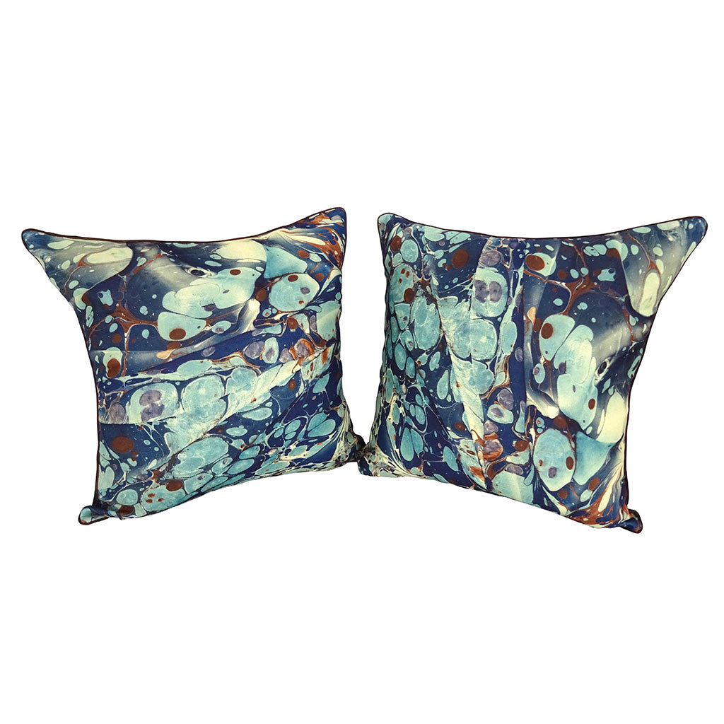 'Blue Puddles' Pillow Cover
