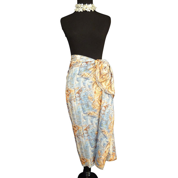 'Desert Sunset' Cotton Voile Pareo/Sarong