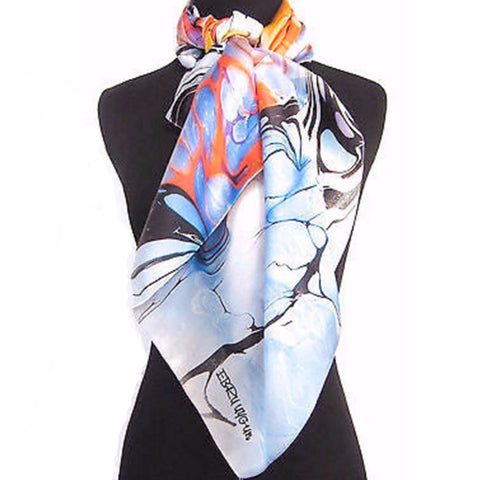 'Desert Sunrise' Silk Satin Scarf