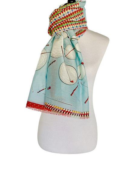 'Golf Roulette Scarf in Blue'