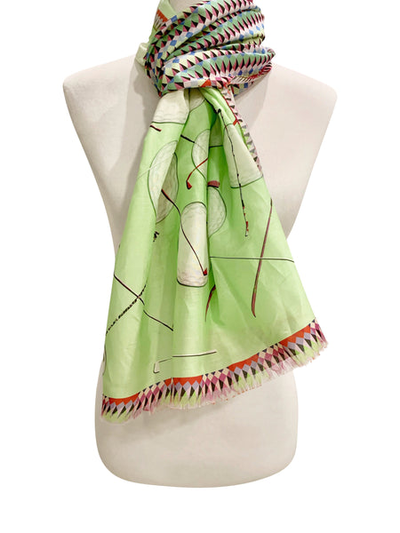 'Golf Roulette Scarf in Green'