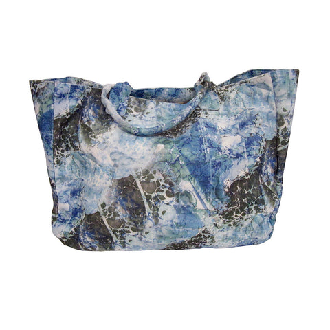 'Great Wave' Extra Large Microfiber Tote