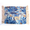'Bird's Eye Blue' Pillow Cover with Tassels