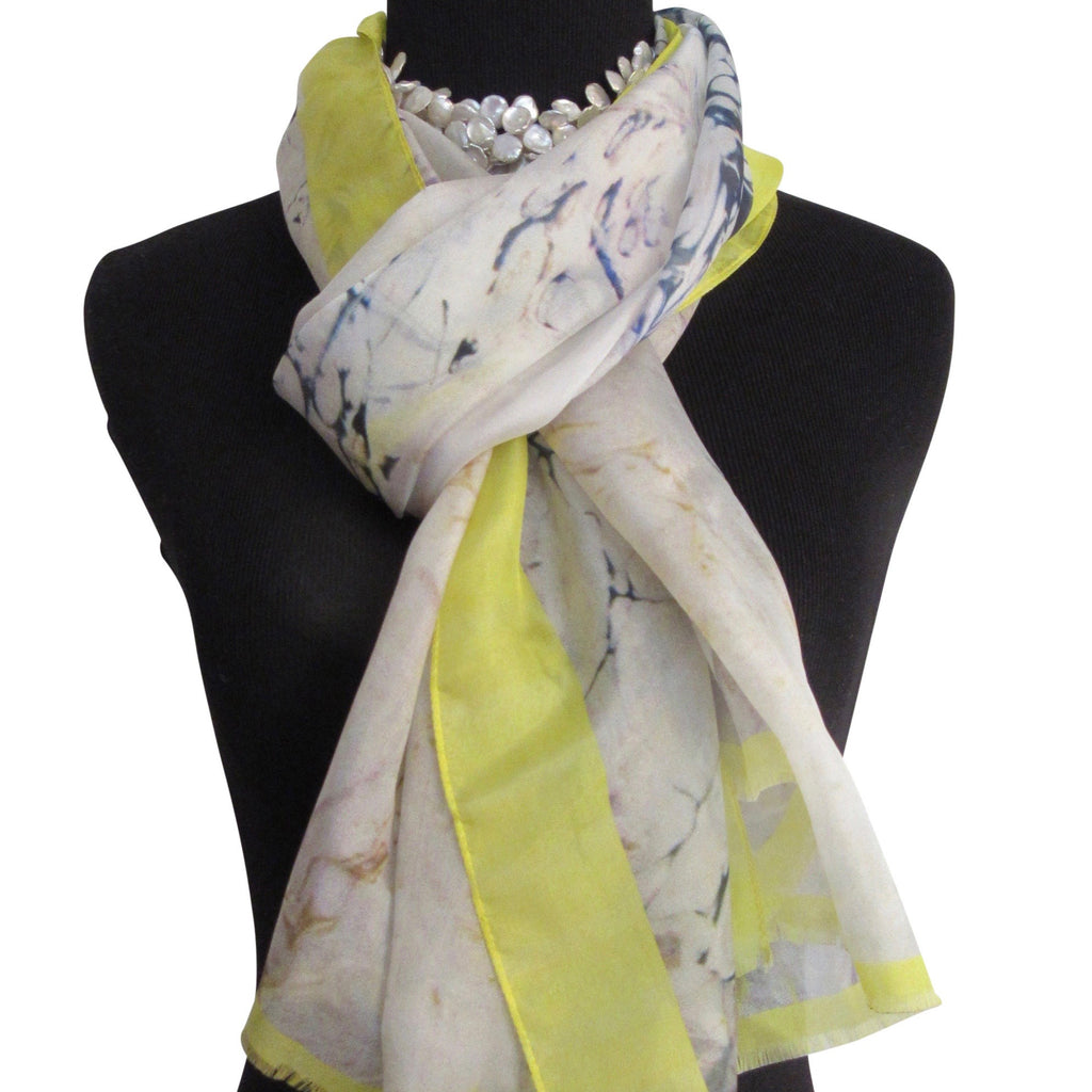 'Lemon Meringue' Silk Voile Scarf