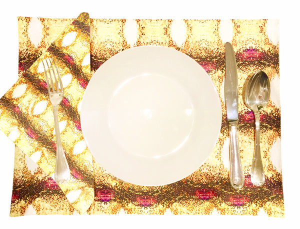 'London Jewel' Placemat and Napkin Set