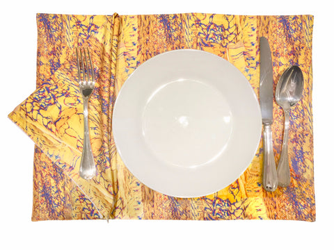 'Maize Maze' Reversible Placemat and Napkin Set