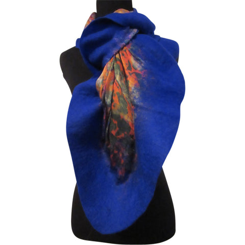 'Orange Grove' Silk/Wool Felt Wrap, Shawl, Scarf
