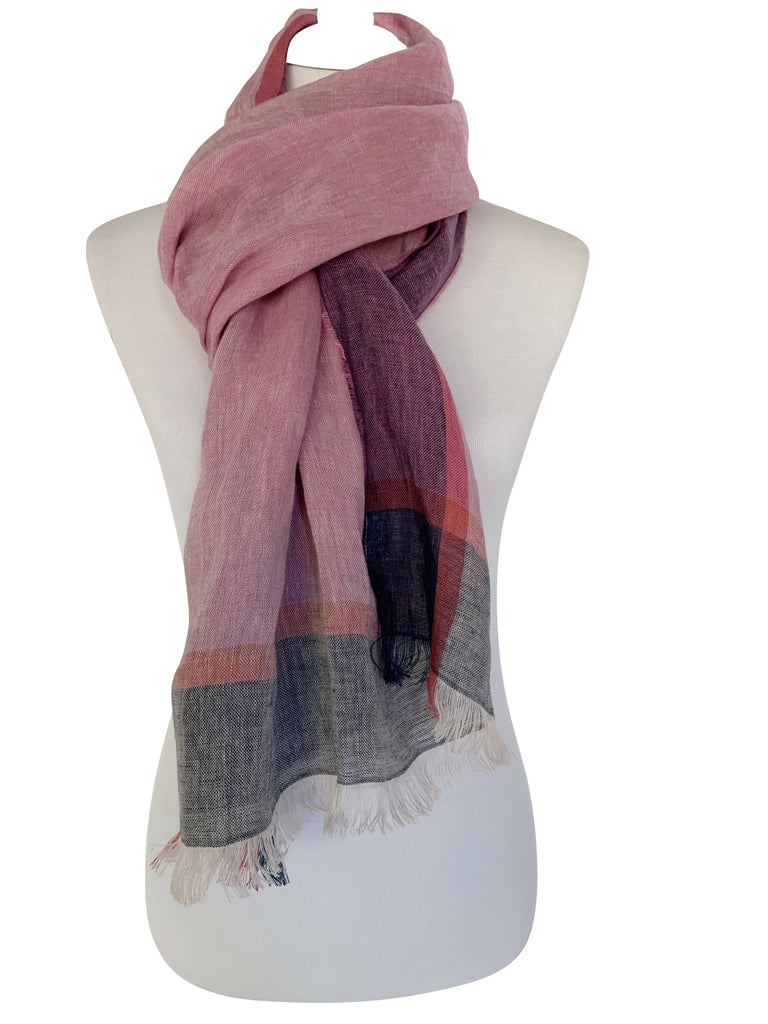 'Amalfi Scarf in Purple/Pink'