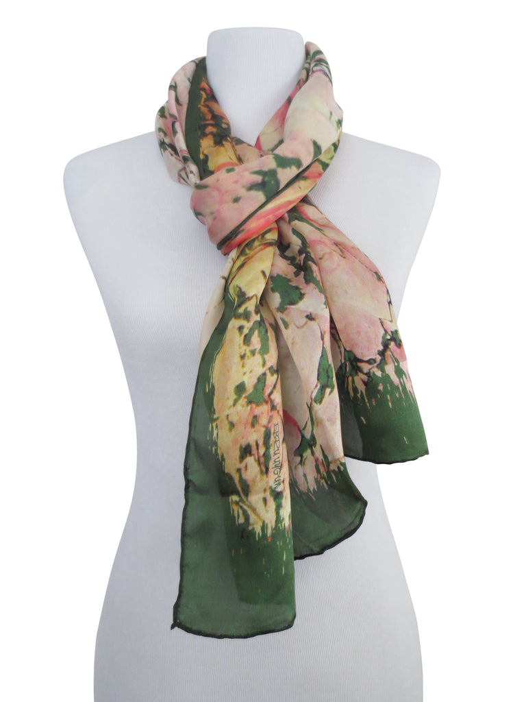 'Watermelon' Silk Voile Scarf