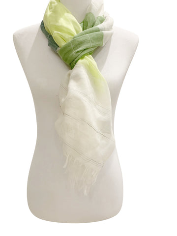 'Primavera Scarf in Green'