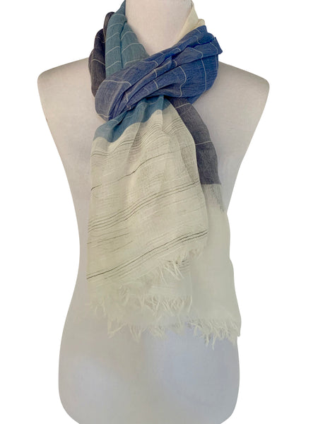 'Primavera Scarf in Blue'