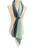 'Ombrello Scarf in Navy/Turquoise/Royal Blue'