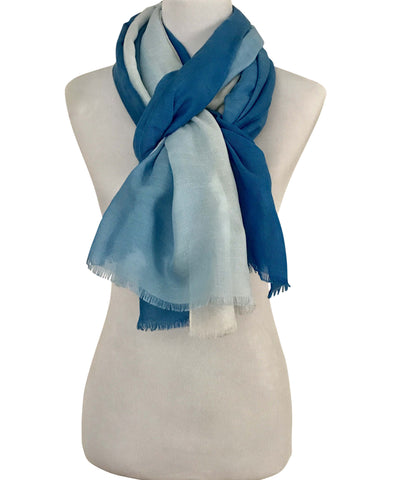 'Monaco Ombre' Cotton/Silk Scarf