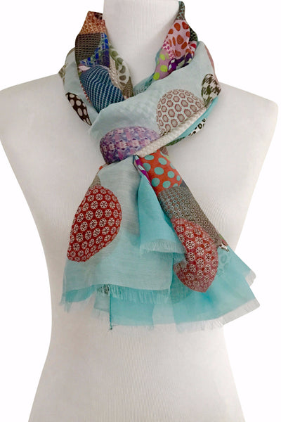 'Palline' Cotton/Silk Scarf