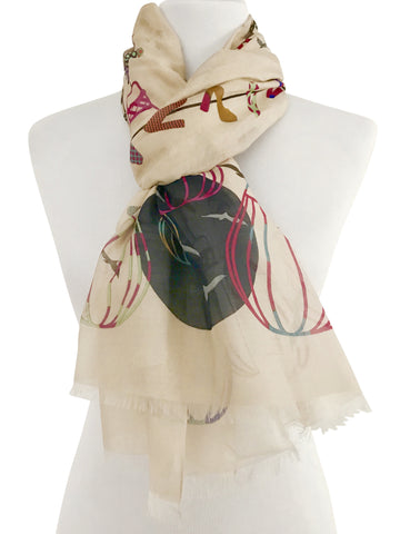 'Up Up and Away' Cotton Silk Scarf