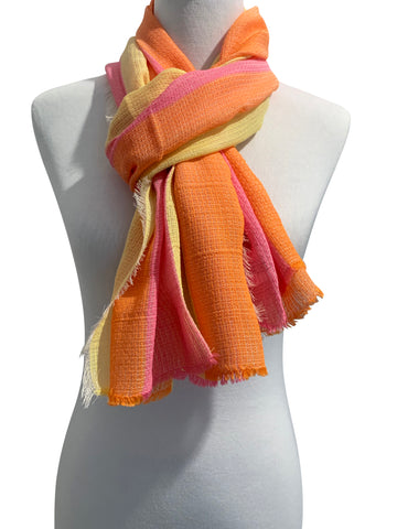 'Ombrello Scarf in Yellow/Orange/Pink'