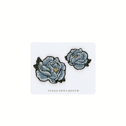 Embroidered Peonies Stickers