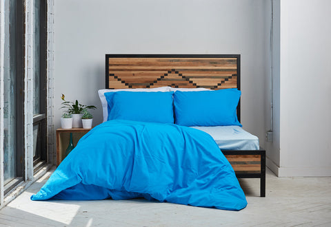 esleep set | blue skies | metal bed | bedface