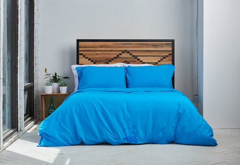 epillowcases | sky blue | metal bed | bedface