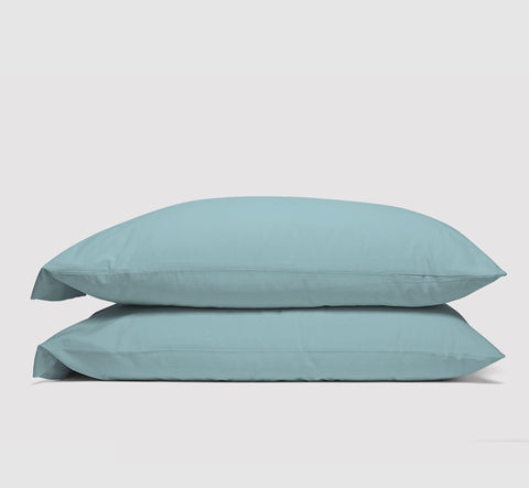 pillowcases | seabreeze teal | bedface