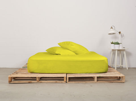 efitted sheet | all nighter citron | pallet bed |  bedface