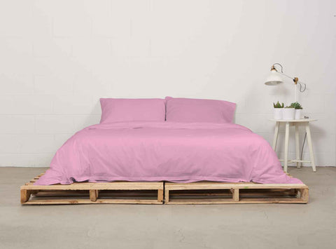 eduvet cover | powder pink | pallet bed |  bedface