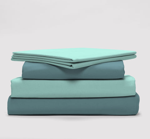 esuper sleep set | seafoam | bedface