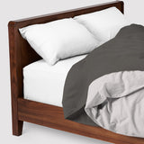 super sleep set | greyscale | wood bed | bedface