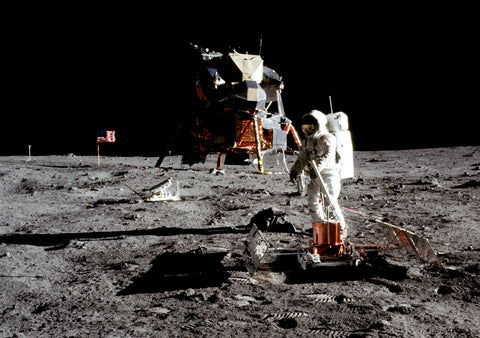 First moon walk in 1969