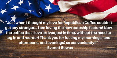 Republican Coffee Subscription Service Client Testimonial