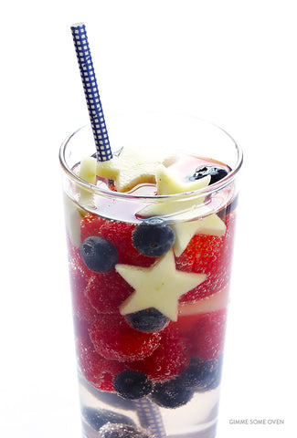 Sparkling Patriotic Red, White and Blue Sangria