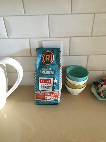 Republican Coffee on a counter to impress democrats