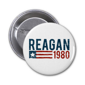Ronald Reagan 1980 Vintage Lapel Pin