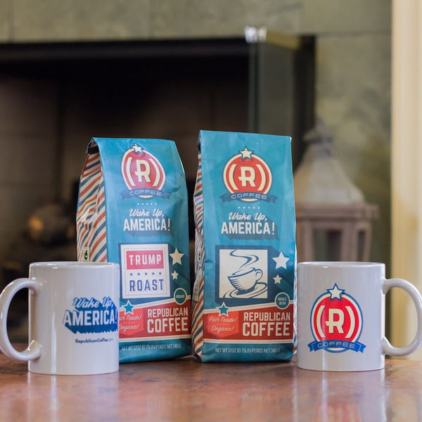 The Caucus (2x Coffee + 2x Mug) - Whole Bean / None (Classic) - Bundle - Republican Coffee - 1