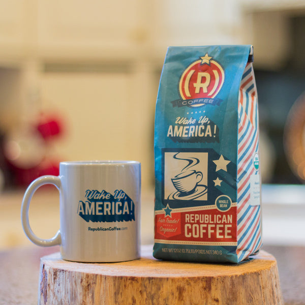 The Patriot (Coffee + Mug) - Whole Bean / None (Classic) - Bundle - Republican Coffee - 1
