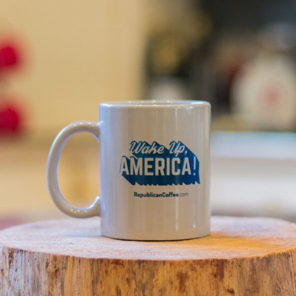 Wake Up, America! Coffee Mug -  - Merchandise - Republican Coffee - 1
