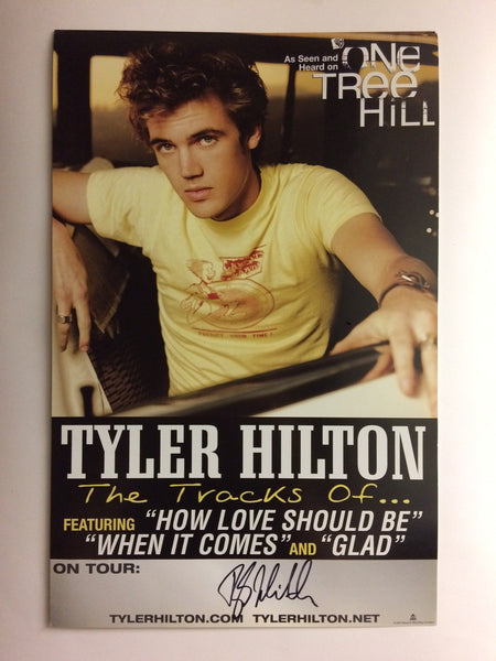 The Tracks of Tyler Hilton Album Promo Poster - Signed