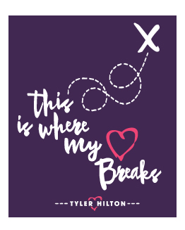 "Tee-Shirt - ""This Is Where My Heart Breaks"""