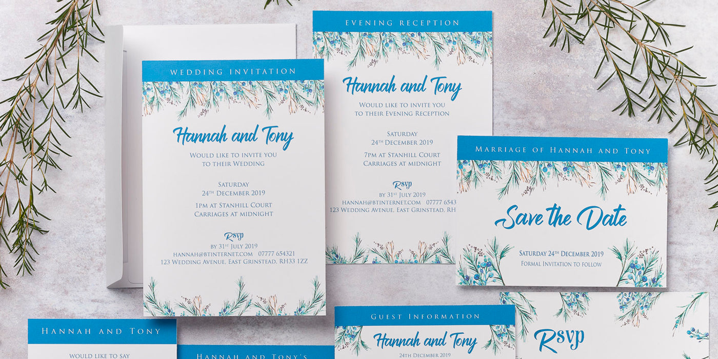 Berries Design Wedding Invitation Collection