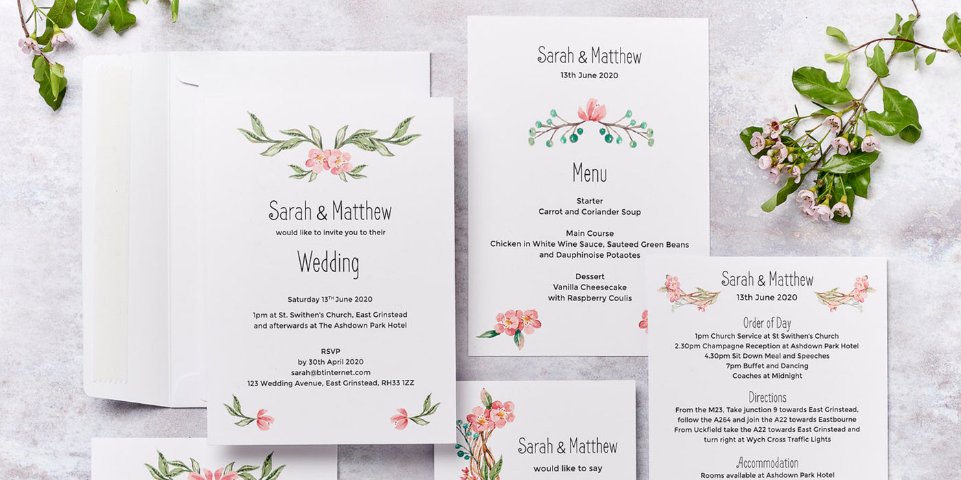 Blossom Design Wedding Invitation Collection