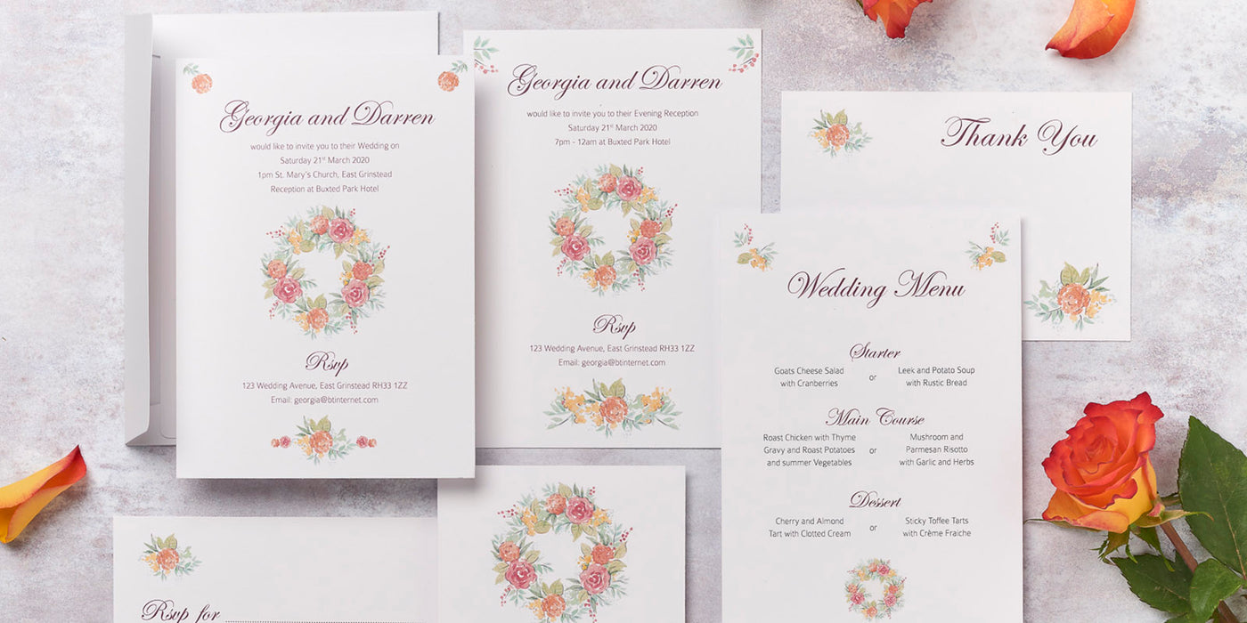 Rose Design Wedding Invitation Collection