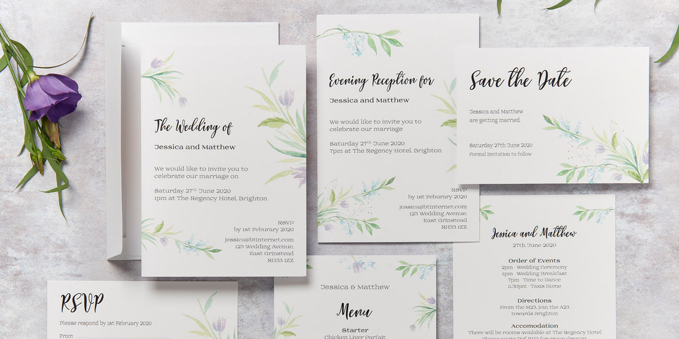 Tulip Design Wedding Invitation Collection