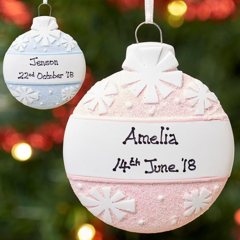 Personalised Christmas Tree Baubles