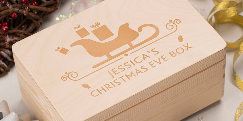 Wooden Xmas Eve Boxes